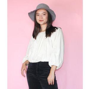 (497) VTG 1960s Grey Wool Hat